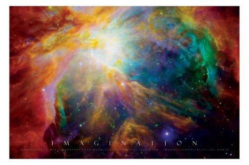 Empire 327673 - Poster Imagination con motivo galassie, dimensioni 91,5 x 61 cm