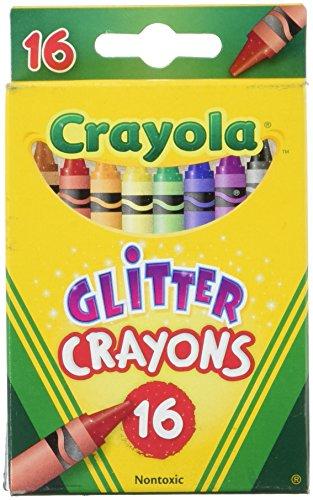 Crayola Glitzer-Wachsmalstifte, Box mit 16 Stück