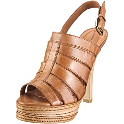 Via Uno Leather-Atanado 21071601, Damen, Sandalen/Fashion-Sandalen, Braun (camel), EU 40
