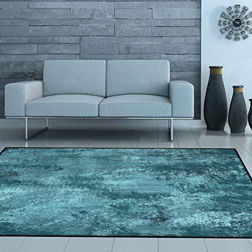 ZYTFC Einfache Hauptwohnzimmerteppichschlafzimmer-Nachtdecke des nordischen Pers5onlichkeitszusammenfassungs-Chenille-Teppichs,150x220cm -