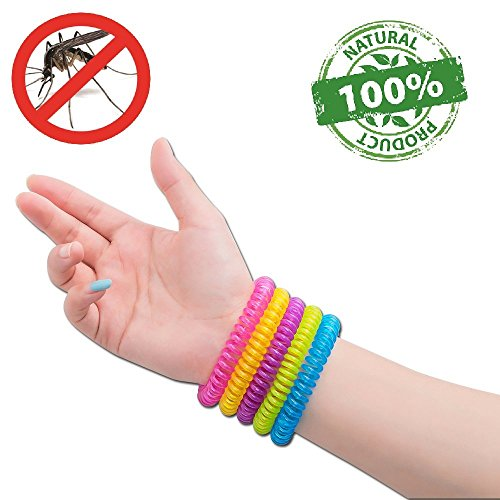 #1 Mückenschutz Armband | Moskito Schutz Anti-Moskito Insektenschutz Armbänder von NATURO- Familienpackung mit 10 Armbändern- Wasserabweisend Farbige Moskito Armbänder- 100% Natürliche Ätherische Öle, Frei von Deet- Sicher & Effektiv: 250 Stunden Schutz - Zitrus-band