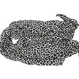 Celebrity - Sciarpa Piccola con Stampa Leopardata, 177,8 x 101,6 cm, Colore: Bianco/Nero