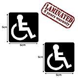 2 Stück Vinyl Aufkleber Autoaufkleber Behindert Symbol Rollstuhlfahrer Rollstuhl Stickers Auto Moto Motorrad Fahrrad Fenster Tür Tuning B 72