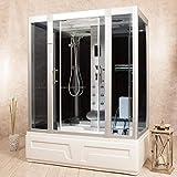 Cabine hydromassage 150 x 90 ou 160 x 85 cm chromothérapie radio box douche également disponible avec sauna sur commande