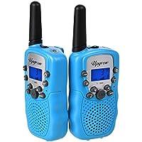 2x Walkie Talkies Set Kinder Funkgeräte 3KM Reichweite 8 Kanäle mit Taschenlampe Walki Talki Kinder Spielzeug
