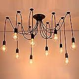 Tuipong 10 Lichter Kreativer Kronleuchter Antike Klassische Edison Lampenschirm Industrielle Kronleuchter Loft Licht Mehrere Ajustable DIY Decke Spinne Lampe Licht E27 Retro Pendelleuchte