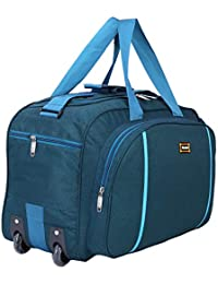 c2d90302ff2 Nice Line Waterproof Polyester Lightweight Luggage Duffel Bag with 2 Wheels  (Blue
