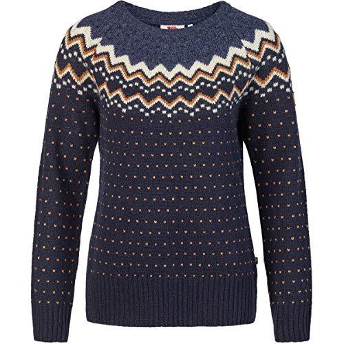 FJÄLLRÄVEN Damen Övik Knit Sweater, Dark Navy, L