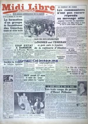 MIDI LIBRE DIMANCHE du 01/07/1951