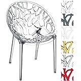 CLP Design-Gartenstuhl CRYSTAL aus Kunststoff I Wetterbeständiger Stapelstuhl mit einer maximalen Belastbarkeit von 160 kg I In verschiedenen Farben wählbar transparent
