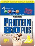 Weider, 80 Plus Protein, Cappuccino, 1er Pack (1x 500g)