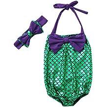 K-youth® Mono Bebé Bañador para niñas Escala de Pescado Traje de baño de