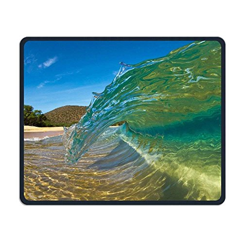 Wireless Mouse Pad, Waves Mouse Pads, Portable Computer Gaming Personalized Mobile CuteMouse Pad Mat for Women Men at Home or Work - Wireless Laser Mobile Mouse