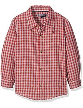 Tommy Hilfiger Jungen Hemd Melange Gingham Shirt L/S