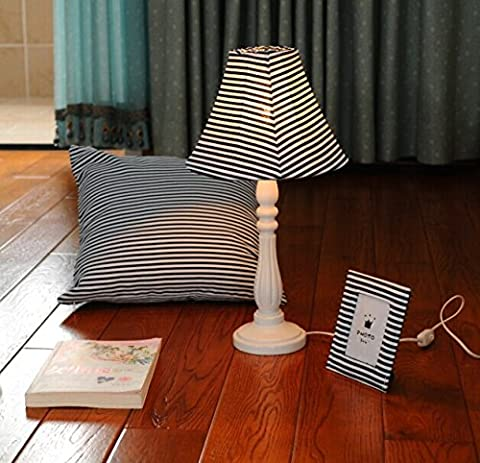 SAEJJ-Fabric card table lamp home fashion creative table lamp , table lamps - blue and (Contemporanea Per Porte Scorrevoli)