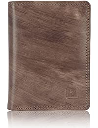 Le craf Men's Brown Genuine Leather RFID Blocking Wallet