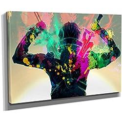 Nerdinger Kirito Splash - Kunstdruck auf Leinwand (60x40 cm) zum Verschönern Ihrer Wohnung. Verschiedene Formate auf Echtholzrahmen. Höchste Qualität.