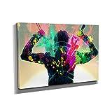 Kirito Splash - Kunstdruck auf Leinwand (90x60 cm) zum Verschönern Ihrer Wohnung. Verschiedene Formate auf Echtholzrahmen. Höchste Qualität.
