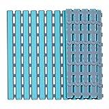 XZANTE Rutschfeste Badematte mit Saugn?pfen, Badezimmer Küchentür Boden Wanne Dusche Sicherheitsmatten Antibakterielle Professionelle mit Ablaufloch (16x25 Zoll) (Blau)