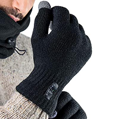 Tarjane Display Touch-Screen Winterhandschuhe Herren Handschuhe Strick Gloves extra warm TOG 1.9 von Tarjane - Outdoor Shop