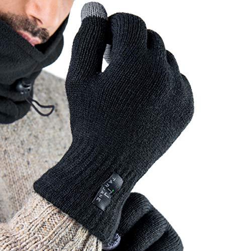 Tarjane Display Touch-Screen Winterhandschuhe Herren Handschuhe Strick Gloves extra warm TOG 1.9 Schwarz L/XL - Htc Phone Pad