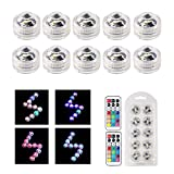 MAVIE 10 pcs Sumergible Luces LED Luces Subacuáticas Impermeable SMD 3528 RGB Humor Luces con...