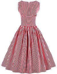 E-Girl M1380 Damen Rockabilly 50er Vintage Retro Kleid Partykleider Cocktailkleider