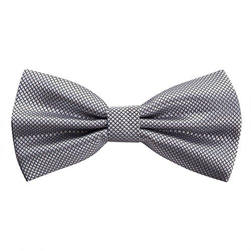 OKCS - Fliege Schleife Querbinder für Männer und Frauen - in Stone Grey