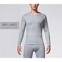 YMFIE Simple de damas y caballeros puro algodón fino suave y cómoda ropa interior caliente pantalones set M-XXXL,xl,d