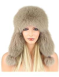 cappello di pelliccia volpe pelle Berretto Cappello aviatore Sci Invernale  Berretto Cappello Fox Colbacco urss Cappello 08eeb8e4f8e4