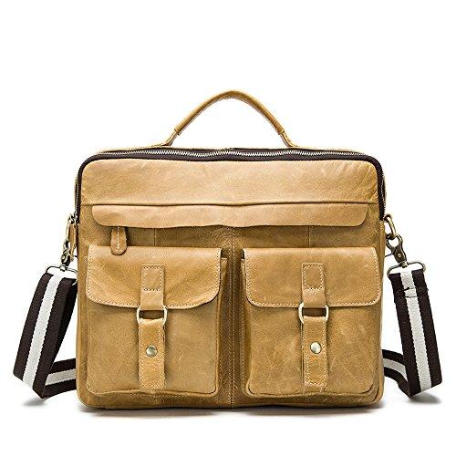 Meoaeo Männer Single Schulter Tasche Tasche Männer Und Männer Single Schultertasche Yellow brown