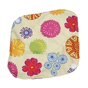 Yesiidor 1PC Reusable Cloth Sanitary Napkins Menstrual Panty Pads With Premium Bamboo And Charcoal Absorbency S