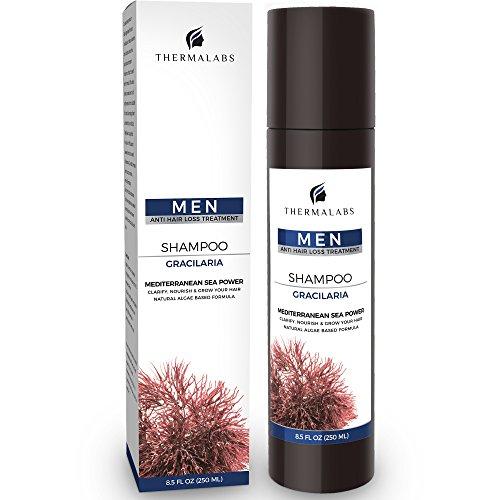 Anti Haarausfall Shampoo, aufbauende & natürliche, kräftigende Volumen Algen-Haarpflege für den Mann