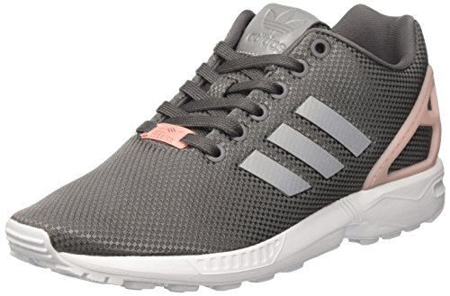 adidas Damen ZX Flux Trainer Low, Grau (Granit/Silver MT/C Black), 38 EU (Damen-trainer)