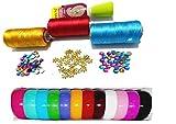 #10: Goelx Silk thread Bangle-making kit with decoration materials with full bangle box. size medium