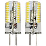 MENGS® 2 Stück GY6.35 4W LED Lampe 72x3014 SMD AC/DC 12V Warmweiß 3000K Mit Silikon Mantel