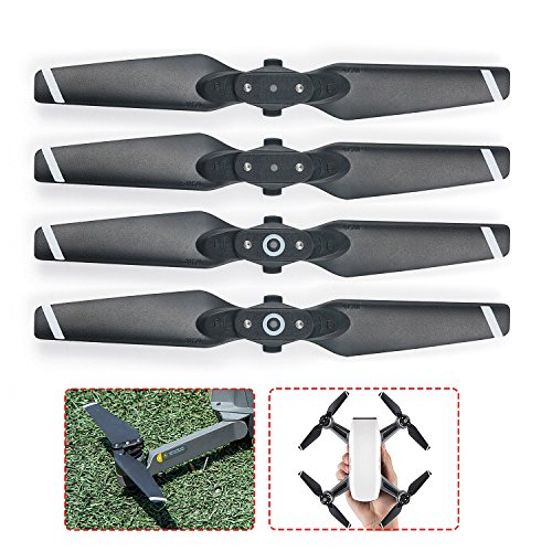 MOOKLIN 4 pcs Quick release propeller Foldable 2 propellers Replacement CW / CCW 4730F Auto Adjustable pair for dji Spark Drone