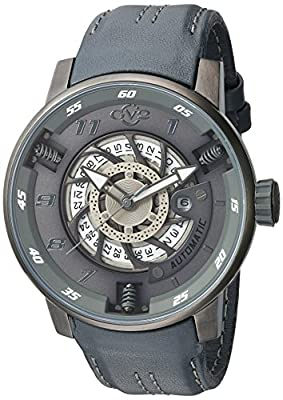 GV2 by Gevril Men's Analog Automatic-self-Wind Watch with Leather Calfskin Strap 1303