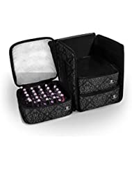Roo Beauty - Ensemble de Rangement Cube 3 Pièces pour Kit de Manucure Professionnel - Noir