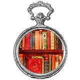 KS Taschenuhr mit Kette Herren Damen Quarz Analog Vintage Geschenkbox KSP095