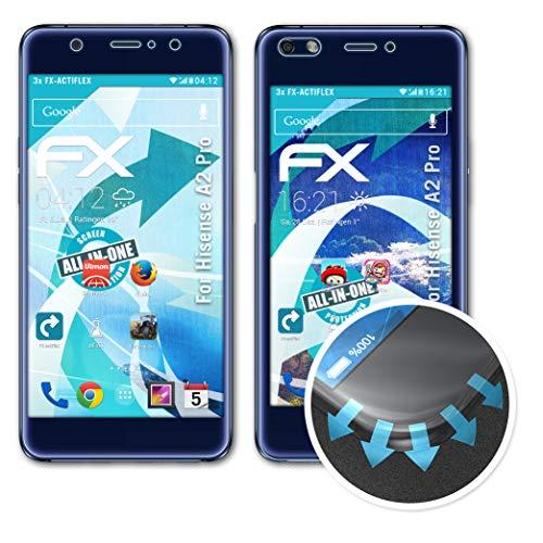 atFolix Schutzfolie passend für Hisense A2 Pro Folie, ultraklare & Flexible FX Bildschirmschutzfolie (3er Set)