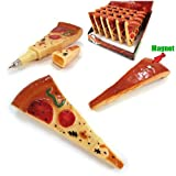 #10: GeekGoodies Pizza Pen Writing Novelty Birthday Gift Pen With Fridge Magnet