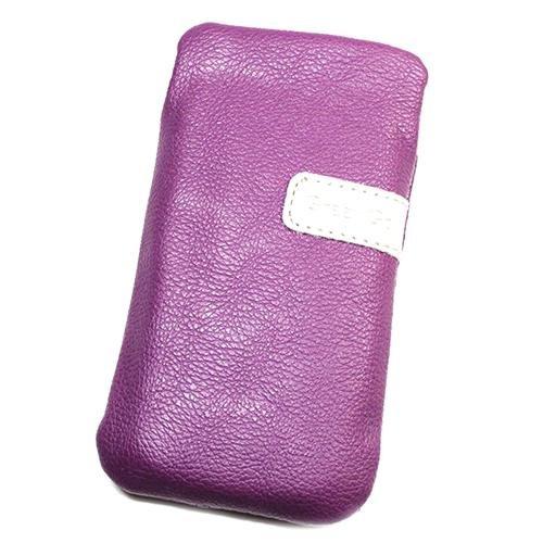 Schutzhülle Tasche Lederoptik violett L für Apple iPod Touch 4