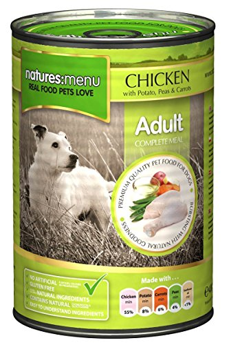 Natures Menu 12 x 400g Cans of Chicken with Potato, Peas & Carrots Dog Food