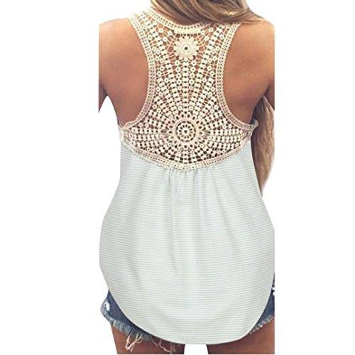 VEMOW Neue Design Mode Frauen Damen Mädchen Sommer SeLace Weste Top Kurzarm Bluse Casual Tank Tops T-Shirt(Minzgrün, EU-44/CN-2XL) (T-shirt-designs Bowling)