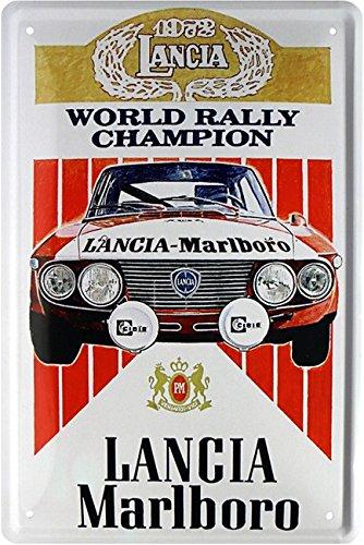 Lancia - Rally World Champion 1976 Car Auto Blechschild 20x30 Retro Blech 1697 -