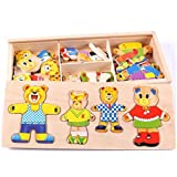 [Sponsored]Curtis Toys Dress-Up Bear Wooden Puzzle