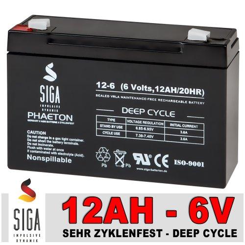 Akku 12Ah 6V AGM Blei Gel Batterie 12 Ah / 6 V 10Ah Kinderauto Elektrofahrzeug Kinderfahrzeug Perego