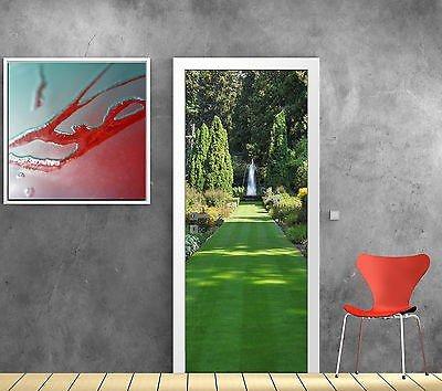 StickersNews Aufkleber für Tür Irre L Auge Deko Garten Brunnen OEM 768, 93x204cm