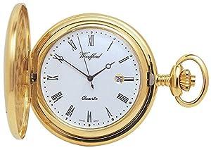 Chapado en oro completo Hunter bolsillo del cuarzo Relojes de Woodford